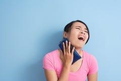 Kobiety szyi ból obrazy stock