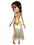 Kobiety Toon postaci brzucha tancerz Zdjęcie Royalty Free