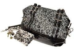 Kobiety torebka i akcesoria kiesa dla klucza właściciela i Obrazy Royalty Free