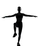 Kobiety treningu sprawności fizycznej postura Zdjęcia Royalty Free