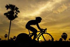 Kobiety triathlon gra w Tajlandia Fotografia Stock