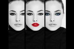 Kobiety twarz, piękno kolaż obraz royalty free