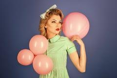 Kobiety twarzy piękno Piękno i moda, rocznik Fotografia Royalty Free