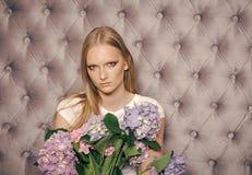 Kobiety twarzy skóry opieka Portret kobiet twarz w twój advertisnent Kobiety twarzy piękno Dziewczyna z blondynem, makeup twarz Obraz Stock