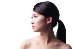 Kobiety twarzy skóry problem Zdjęcia Royalty Free