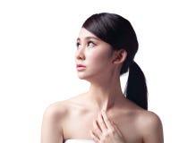 Kobiety twarzy skóry problem Obraz Royalty Free