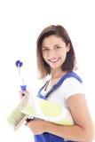 Kobiety ufny decorator Obrazy Royalty Free