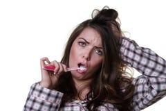 kobiety umyć zębów Obraz Stock