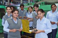 Kobiety upełnomocnienia pracy zespołowej sukces Zdjęcia Royalty Free