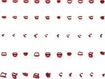 50 kobiety usta pozycj w Wektorowych rewolucjonistek wargach obrazy royalty free