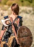 Kobiety Viking charakter obrazy stock