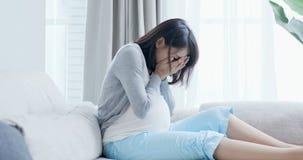 Kobiety w ciąży odczucia depresja obrazy stock