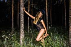 Kobiety w lesie Obraz Royalty Free