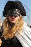 Kobiety w luksusowym kostiumu przy Wenecja, Włochy 2015 Zdjęcia Stock