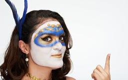 Kobiety w venetian masce Obrazy Royalty Free