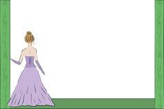 Kobiety w wieczór balowej sukni royalty ilustracja