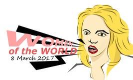 Kobiety światowy 2017 fotografia royalty free