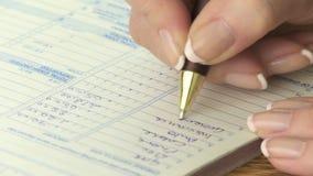 Kobiety writing konta zdjęcie wideo