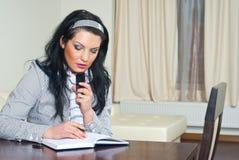 kobiety wykonawczy domowy myślący działanie Obraz Stock