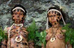 Kobiety Yaffi plemię w tradycyjnej kolorystyce Nowa gwinei wyspa Zdjęcie Royalty Free