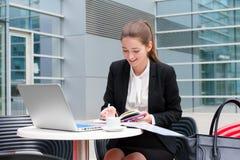 kobiety young pracy jednostek gospodarczych Fotografia Stock