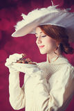 Kobiety z candys. Obraz Royalty Free