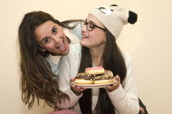 Kobiety z donuts Obraz Stock