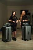 Kobiety z EMS stacją Obrazy Royalty Free