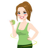 Kobiety Zdrowa Jabłczana dieta Zdjęcia Royalty Free