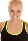 Kobiety zieleni sportów ubioru zakończenia uśmiech Obraz Royalty Free