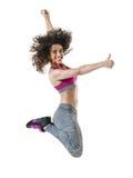 Kobiety zumba tancerza sprawności fizycznej dancingowi ćwiczenia Fotografia Royalty Free