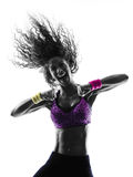 Kobiety zumba tancerza taniec ćwiczy sylwetkę Fotografia Royalty Free