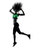 Kobiety zumba tancerza taniec ćwiczy sylwetkę Fotografia Stock