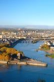 Koblenz σε ένα ηλιόλουστο πρωί στοκ εικόνα με δικαίωμα ελεύθερης χρήσης