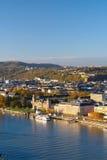 Koblenz σε ένα ηλιόλουστο πρωί στοκ εικόνες