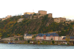 Koblenz σε ένα ηλιόλουστο πρωί στοκ εικόνα
