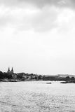 Koblenz. Black and white cityscape o Koblenz Stock Photo