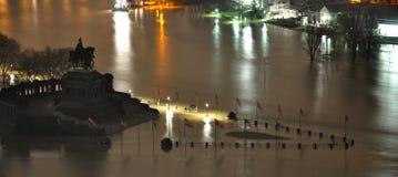Koblenz City Germany flood historic German Corner2 Royalty Free Stock Photos