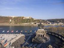 Koblenz City Germany with historic German Corner 3 Stock Photo