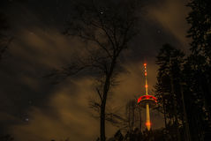 Koblenz City Germany radio tower in the woods Stock Photos