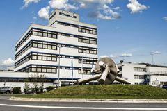 Koblenz Deutschland 09 07 Ansicht 2017 von Hauptsitz und von Fabrik Stabilus in Koblenz können Sie Fabrikgebäude auch sehen Stockfoto