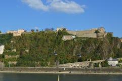 Koblenz in Duitsland Stock Foto's