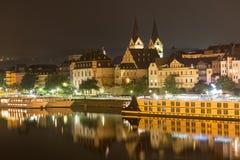 Koblenz germany at night Royalty Free Stock Photos
