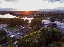Koblenz miasto Niemcy 15 06 2018 wydarzenia Elektroniczny wino przy historycznym pomnikowym niemiec kątem na słonecznym dniu Obrazy Stock