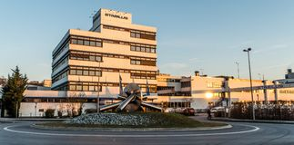 Koblenz Niemcy 09 07 2017 widok Stabilus lokuje i fabryka w Koblenz Ty możesz także widzieć fabrycznych budynki Zdjęcia Royalty Free