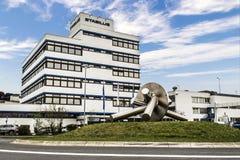 Koblenz Niemcy 09 07 2017 widok Stabilus lokuje i fabryka w Koblenz Ty możesz także widzieć fabrycznych budynki Obrazy Royalty Free