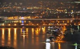 Koblenz-Stadt-Deutschland-Flut historischer Deutscher Corner4 stockfotografie