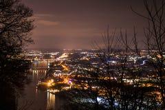 Koblenz-Stadt Deutschland mit historische Stadtgeschichte 2 lizenzfreie stockbilder