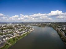 Koblenz-Stadt Deutschland mit historischem Rhein-Tal stockbild