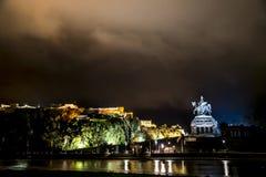 Koblenz-Stadt Deutschland mit historischer deutscher Ecke stockfoto